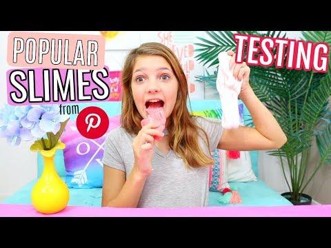 Testing Popular Pinterest SLIMES! Starburst Edible, Clear v white glue