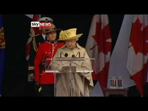 The Queen of Canada Comes Home 2010: Sky TV