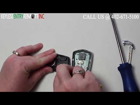 How To Replace Cadillac CTS Key Fob Battery 2014 2015