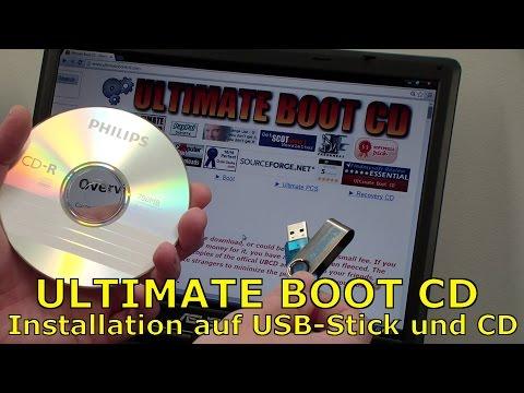 Ultimate Boot CD - ISO Download und Installation auf USB-Stick und CD