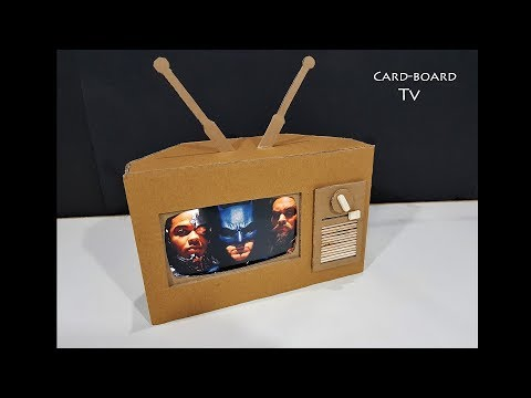 How to Make TV from Cardboard ! Amazing working Cardboard Tv for kids