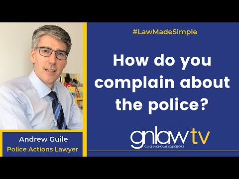 GN Law - How do you complain about the police?