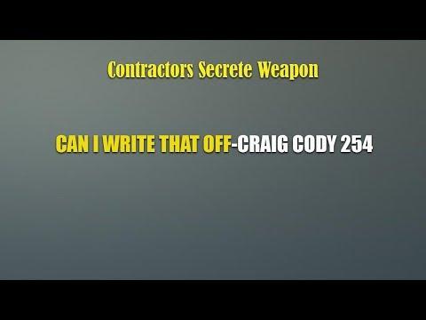 CAN I WRITE THAT OFF-CRAIG CODY 254