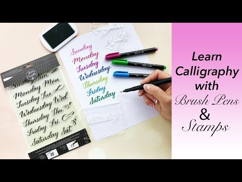 Learn Calligraphy with Brush Pens & Stamps