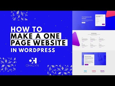 How to Make a One Page Website | WordPress Tutorial 2018