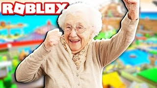 GRANDMA PLAYS ROBLOX