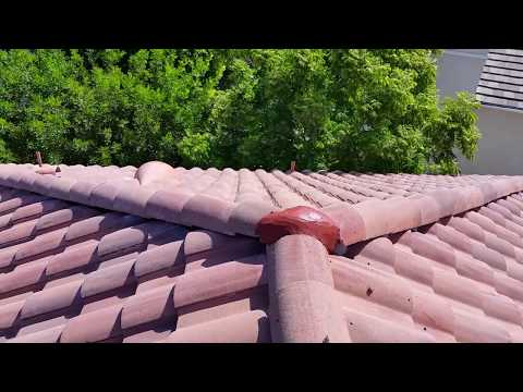 Here's how you do a roof tune up on a cement tile roof - Hanson Roman Pan Roofing Tile.