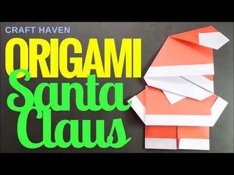 Christmas Origami Santa Claus - Easy Origami Tutorials for Beginners  - Cute Origami Santa - DIY