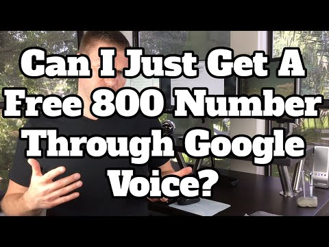 Get A Free 800 Number For Your Business Through Google Voice?