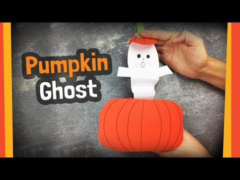 Pumpkin Ghost | Easy to make Halloween crafts for kids