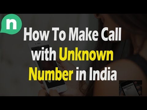 How To Make Call with Unknown Number in India