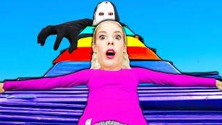 WORLD'S LARGEST Gymnastics Fort! (Hide and Seek w/ RZ Twin ) Rebecca Zamolo