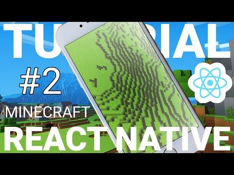 REACT NATIVE Programming: MINECRAFT App Tutorial! Part 2 With EXPO! -Terrain