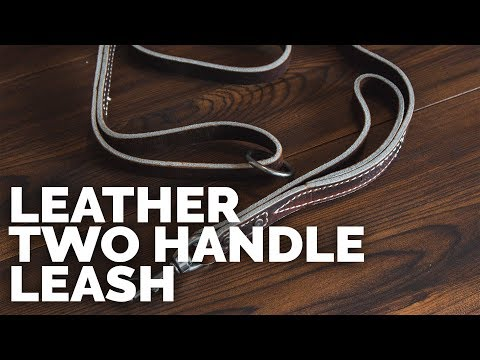 Leather Two Handle Leash