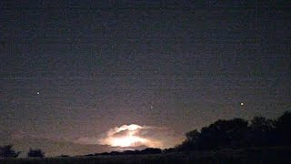 Strong electric storms seen from 200km away