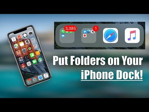 How to Put a Folder on Your iPhone Dock!