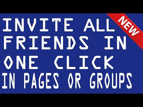 how to invite all friends to facebook page on facebook at Once | Event, Group | FaceBook Tips Tricks