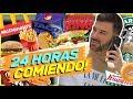 En La Calle 24 HORAS COMIENDO LO MISMO Que La PERSONA DE ENFRENTE Mauricio Mejia