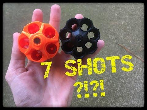 7 SHOT NERF REVOLVER MOD CYLINDER !?!?! (3D Printed!)