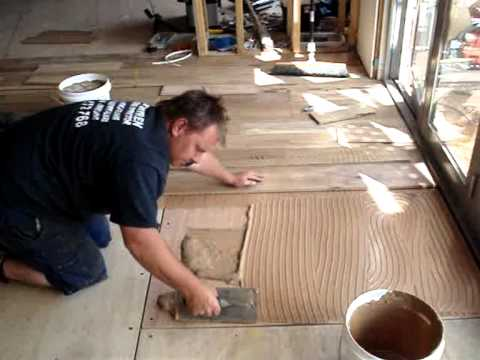 How to Install a Timber Floor on Ply