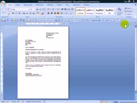 M7(8) How to close a MS word 2007 document