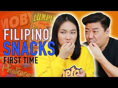 TRYING FILIPINO SNACKS FOR THE FIRST TIME | Raiza Contawi