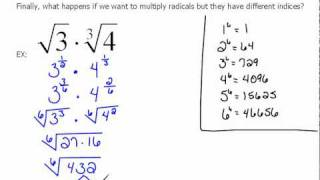 Multiplying Radicals With Different Index 63