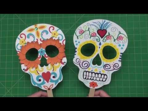 Create your own Sugar Skull Masks