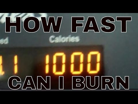 HOW FAST CAN I BURN 1000 CALORIES? Weight Loss Journey Day 125