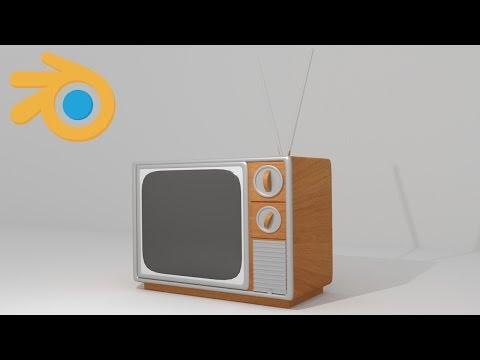 Classic Television - Blender Modeling