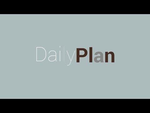 Daily Plan: Plan your day for 30 days
