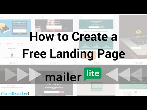 How to Create a Free MailerLite Landing Page