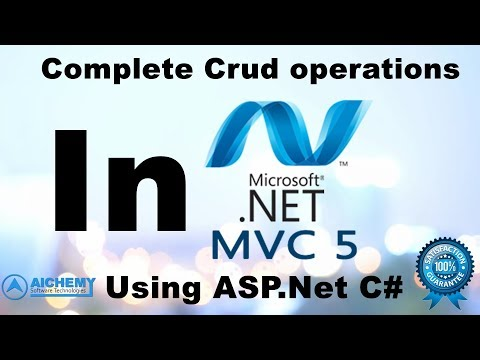 How to Perform Crud Operations In MVC5 With Entity Framework | MVC5 Curd Operation in Asp.net
