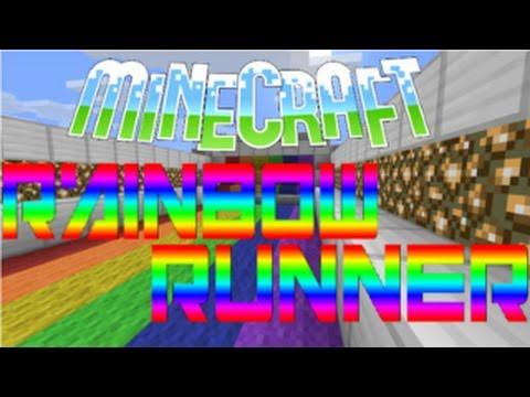 Minijuego de Redstone - Rainbow Runner - Minecraft