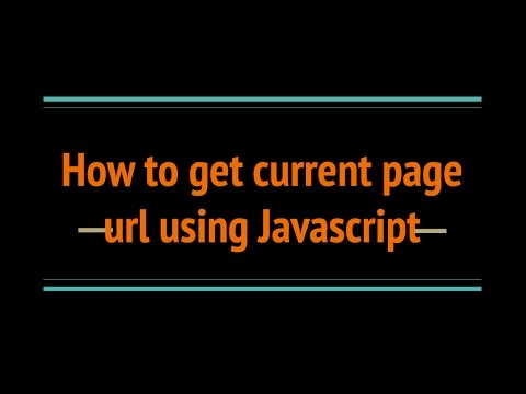 How to get current Page URL using JavaScript