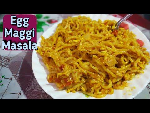 Egg Maggi Recipe   Egg Maggi Masala Recipe in hindi   Street style egg maggi masala  #Eggmaggimasala