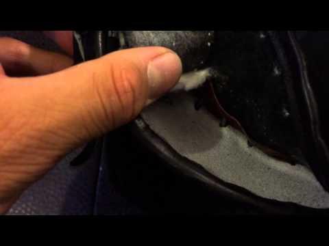 Take out heel padding (short)