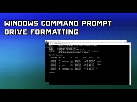 How to Format Hard Drives with Windows Command Prompt & Disk Part