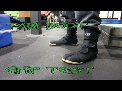 Tabi boot grip test