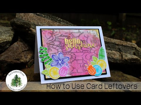 Idea for How to Use Leftover Card Scraps
