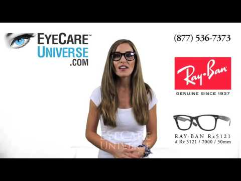 Ray Ban Rx 5121 2000 Shiny Black 50mm Detailed Review