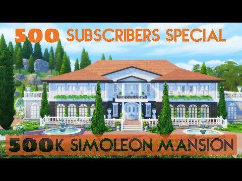 Sims 4 | House Building | 500k Simoleon Mansion (500 Subscibers Special)