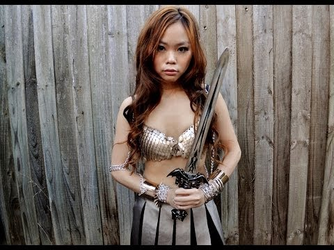 DIY Gladiator Warrior Princess costume