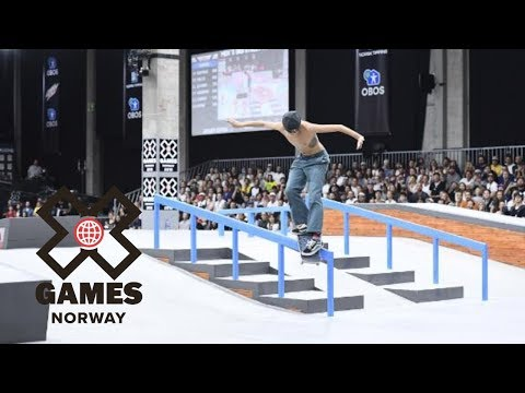 Jagger Eaton wins Men's Skateboard Street silver | X Games Norway 2018