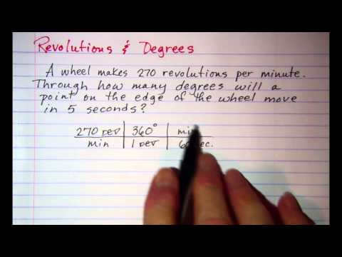 Revolutions and Degrees