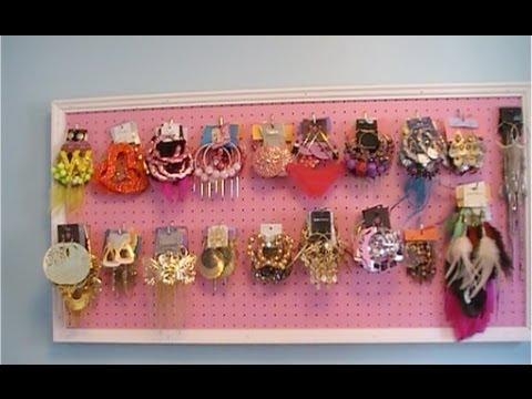 DIY Earring Display Organizer
