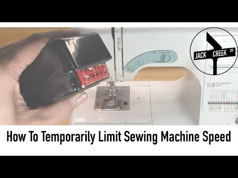 How To Easily & Temporarily Limit The Speed Of A Sewing Machine Or Serger