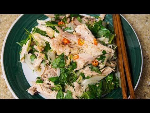 Vietnamese Shredded Chicken Salad - Gỏi Gà Rau Răm