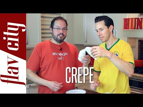 Gluten Free Brazilian Tapioca Crepe -  FlavCity w/ Bobby