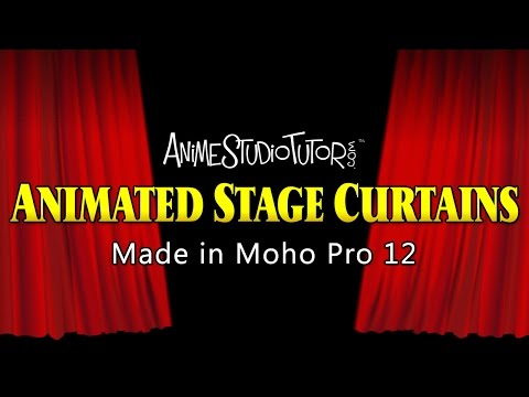 Animated Red Stage Curtains